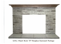 Stacked Stone Fireplace Surround architectural - danko customs inc